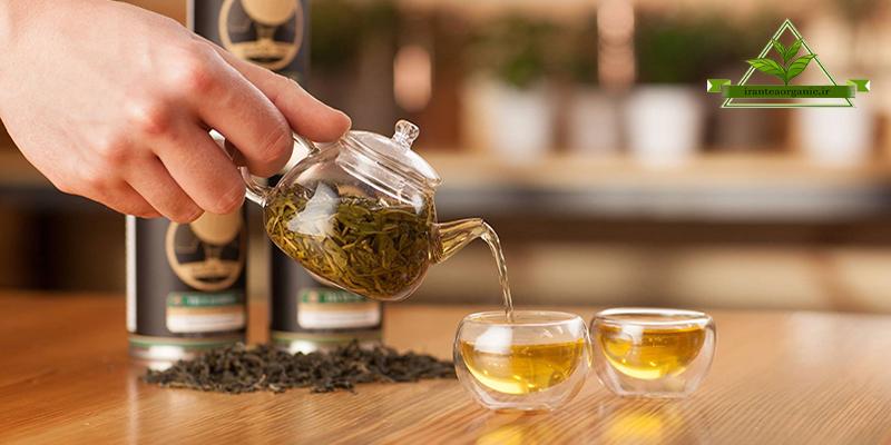دم کردن چای سبز قلم
